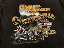 Vintage Harley Davidson Emblem Logo T Shirt Biker Cartersville Georgia Men's XL