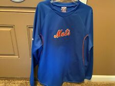 Majestic practice jersey sweatshirt-therma base-MLB-New York Mets-large