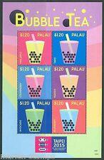 PALAU 2015 BUBBLE TEA  SHEET  MINT  NH