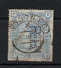 QUEEN VICTORIA 10/- (FAULTS) USED WITH 'RB' PERFIN