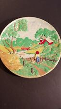 "Vintage-Byron-Ceramic Mold-3-D-Wall-Plate-Farm Barn Scene W/rChild 13"" Diameter"