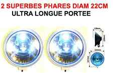 PROMO! TYPE LIGHTFORCE HELLA 2 SUPERBES PHARES 22CM! HDJ PATROL PAJERO LAND JEEP