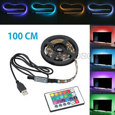 1m RGB 5050 LED Strip Light 5v USB Color Changing TV PC Monitor Back Lighting AU