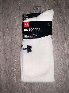 Under Armour OTC Soccer Socks White Size Large New