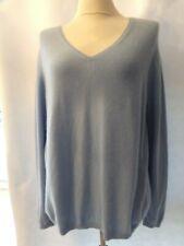 Neiman Marcus Light Blue 100% Cashmere v Neck Sweater 2X Women's