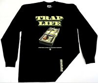 STREETWISE TRAP LIFE Long Sleeve T-shirt Urban Streetwear Adult Men  Tee New