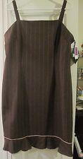 DBY women's dress 16 brown pink sundress jumper
