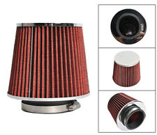 Universal Fit Race Performance 3.5inch Inlet Cone Air Filter Intake in Red Color
