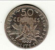 RARE 50 CENTIMES SEMEUSE 1903