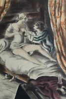 BERTHOMME SAINT-ANDRE :  Les deux amants - EAU FORTE érotique, 1931, 346ex