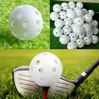 20Pcs Plastic Whiffle Airflow Hollow Golf Practice Training Sports Balls Tackle~