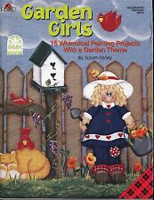 Garden Girls Decorative Tole Painting Bk by Susan Kelley New