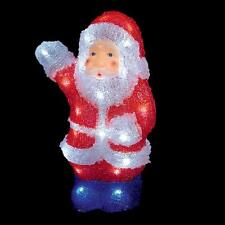 Decorazione Di Natale 30cm illuminato a LED Acrilico Babbo Interno/Esterno