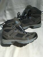 Vasque Breeze Gtx Women's Gray And Blue Leather High Top Hiking Boots Sz 7/37.5
