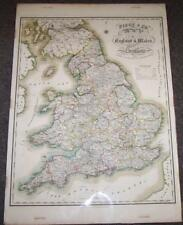 1830 Large Attractive MAP OF ENGLAND WALES & SCOTLAND By PIGOT HAND COLOURED