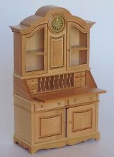 Gigi Desk and Clock, Designed by Maritza for Bespaq, Oak Finish