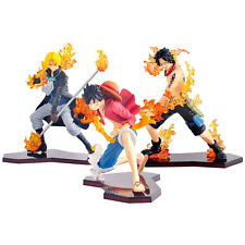 Anime One Piece Attack Styling Luffy Ace Sabo Brother 3pcs PVC Figure New Brand
