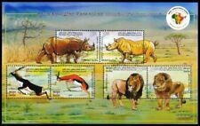 Rhino, Lion, Deer, Wild Animals, INDIA 2015 MNH SS (E2n)