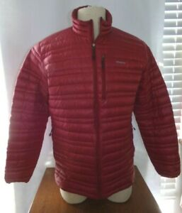 Patagonia Ultra Light Down Red Zip Front Jacket Mens Large L