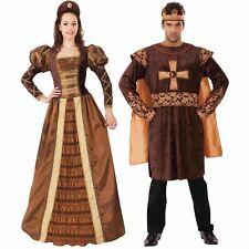 Da Uomo Donna Tudor King Costume Da Regina Medievale Costume Storico COPPIE