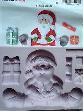 Karen Davies Sitting Santa presents & crackers Christmas Sugarcraft Mould