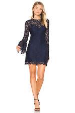 RACHEL ZOE Black Lace Bell Sleeves Dress Size 6 NWT $395