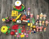 Large Lot Vintage Kenner Strawberry Shortcake Dolls And Accessories