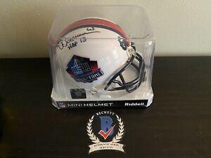 Pittsburgh Steelers Dermontti Dawson HOF 2012 Signed Mini Helmet BAS TSE