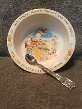 Cow Jumped over the Moon Ceramic Bowl and matching spoon from Avon 1984