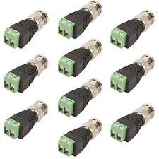 10 Pcs Coax Cat5/Cat6 To Camera CCTV BNC Video Balun Coaxial Connector Screw USA