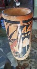 Antique 7 1/2 inches Old Hopi Tubular Poly-chrome Pot, 'Tulip Vase' 1920