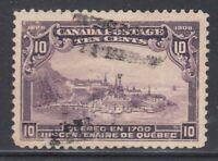 """Canada Scott #101 10 cent Quebec in 1700 """"Quebec Tercentenary""""  F"""