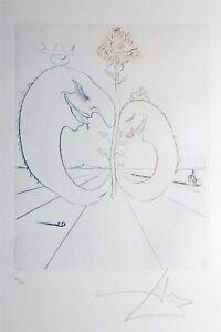 SALVADOR DALI etching BABAOUO HANDSIGNED on BFK RIVES PAPER