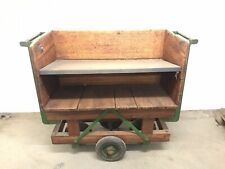 Antique Factory Linen Trolley Cart Vintage Industrial Retro Serving Bar Cart