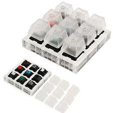 Acryl Tastatur klar Tastenkappen für Cherry MX Schalter Gummi Sampler Tester Set