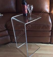"C-Table Clear Acrylic Lucite Plexiglass END SIDE TABLE 26"" high sofa laptop"