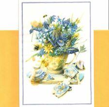 Friendship Friends Yellow Blue Flower Bouquet Marjolein Bastin Hallmark Card