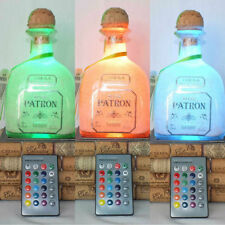 Patron Tequila From Mexico Empty Liquor Bottle Lamp 16 Color Changing LED light