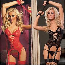 Women Sexy/Sissy Lingerie Babydoll G-String Lace Thong Underwear Nightwear S-3XL