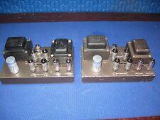 Eico HF-30 mono bloc tube amp pair