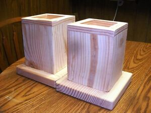 Wood Bed Lifter - Bed Risers - Set Of Two With 7.5 Inch Lift Height Made in USA