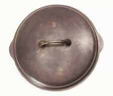 Vtg Griswold no.8 1035 dutch oven cast iron basting top lid cover tite-top