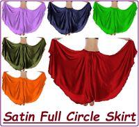 Satin Belly Dance Full Circle Long Maxi Skirt Fusion ATS Gypsy Skirt Tribal