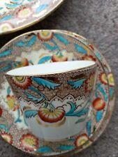 More details for victorian vintage tea set bright colours w&b 20 pieces post uk only