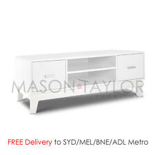 Mason Taylor TV Stand Entertainment Unit Drawers Lowline Cabinet Storage White