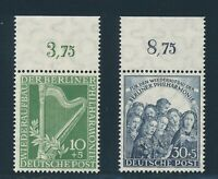 Berlin 1950, Mi. 72-73 **, Oberrandsatz!! Unsigniert! Mi. 140,--!!