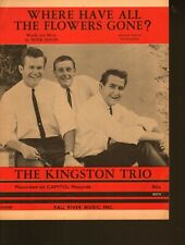 Where Have All the Flowers Gone 1961 Kingston Trio Sheet Music