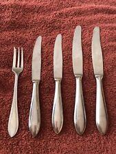 5 Pc SANDRIK ANTICORRO Czech Dinner Knives Small Knives & Dessert Fork Stainless