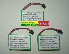 3 x Ni-MH 3.6V Rechargeable BT-446 Battery for Uniden size:approx 3xAAA AU Local