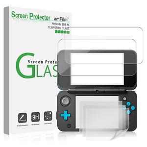 Nintendo 2DS XL amFilm 2 Tempered Glass (Top) | 4 PET (Bottom) Screen Protectors